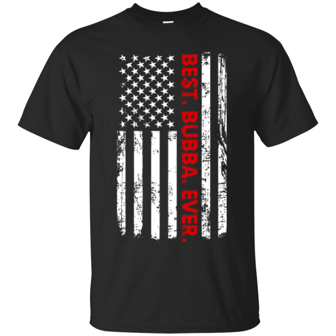Best Bubba Ever T-Shirt Funny Brother Gift with America Flag