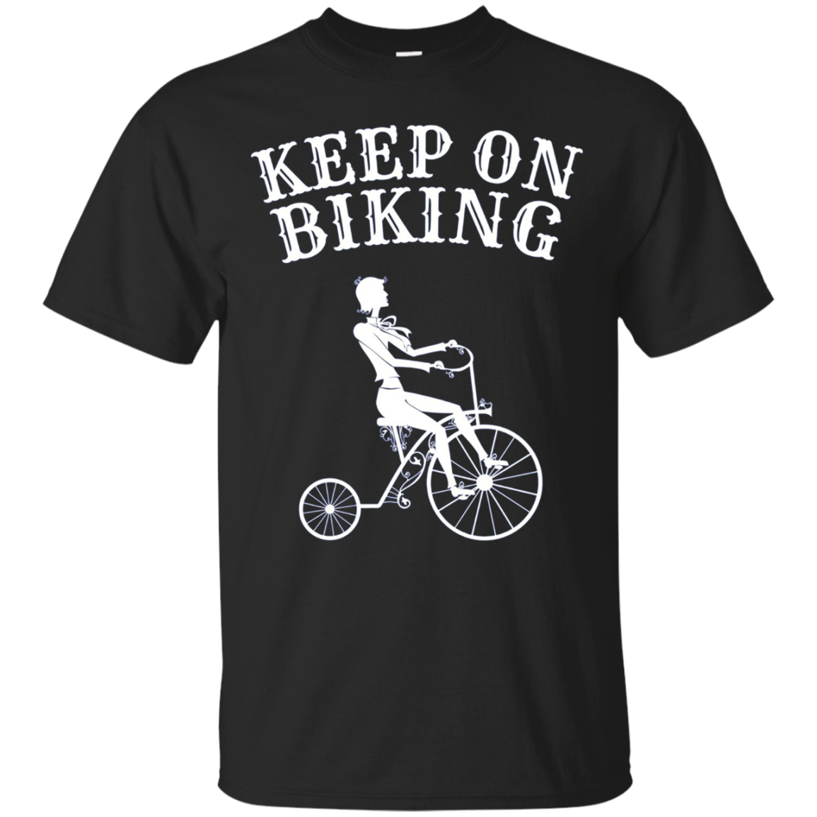 Keep On Biking T-Shirt | Long Sleeve Gentleman Cycling Tee