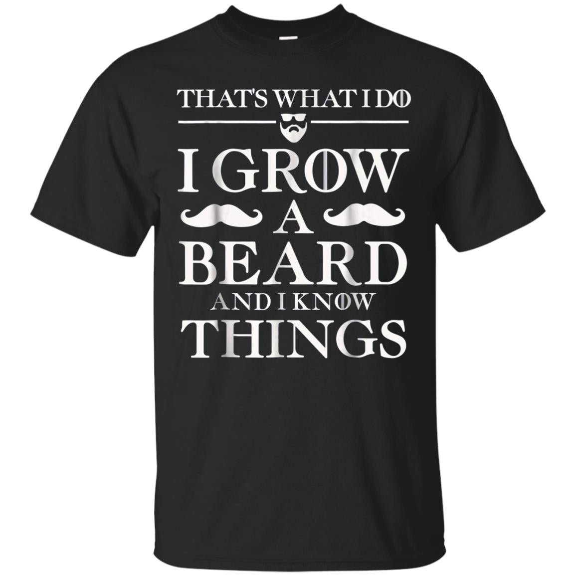 Mens Birthday Funny T Shirt Gift Dad BEARD AND I KNOW THINGS
