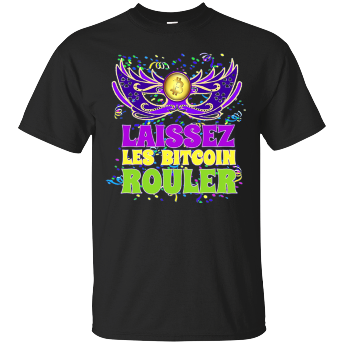 Mardi Gras Bitcoin Fat Tuesday Long Sleeve Shirt New Orleans