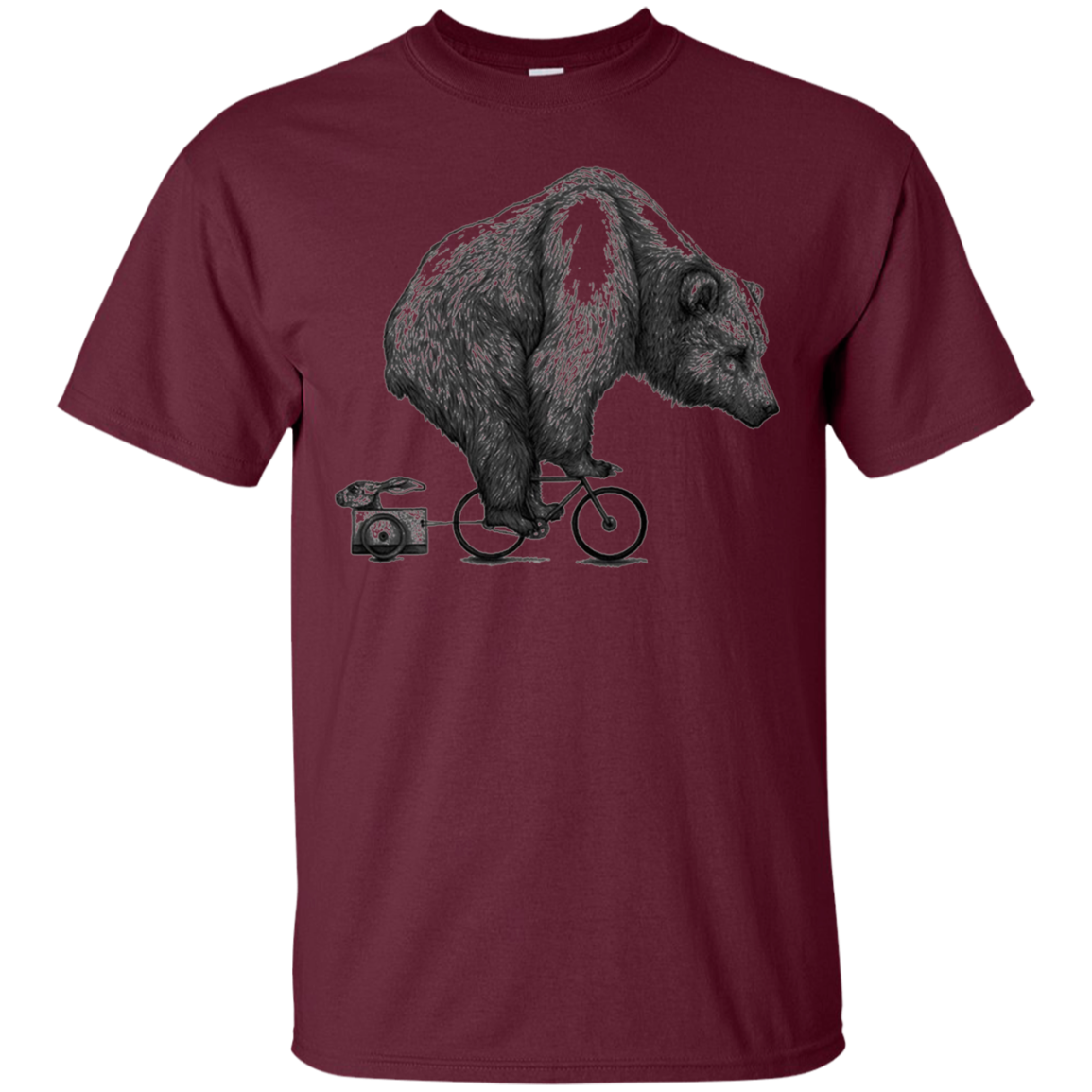 Bear on a Bike T Shirt bears Lover t shirt gift