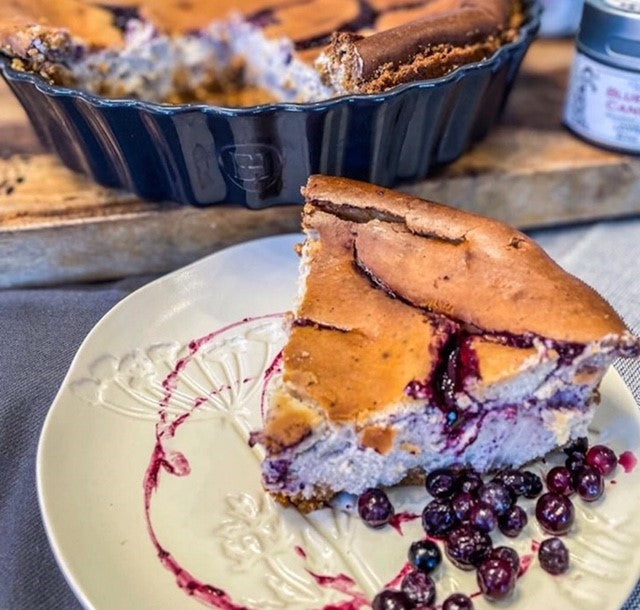 Blueberry Kintsugi Cheesecake by Gustus Vitae
