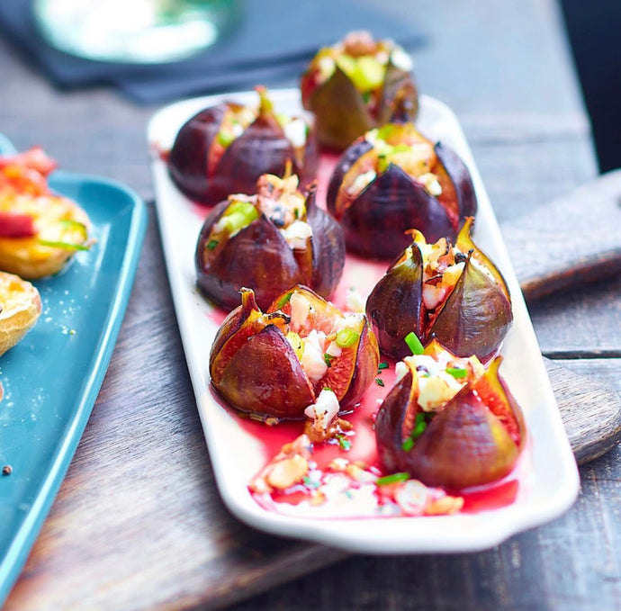 Roasted Figs Stuffed with Honey & Goat Cheese