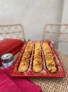 Goat's Cheese Fougasse Baguettes by Gustus Vitae