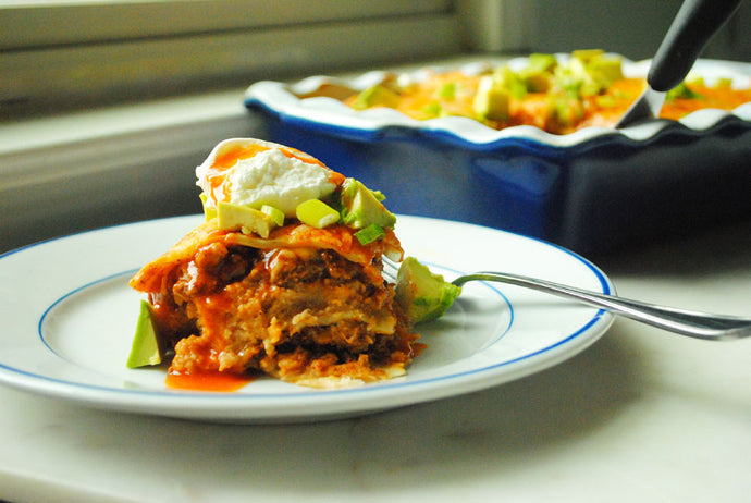 Layered Taco Casserole by TheAnchoredKitchen