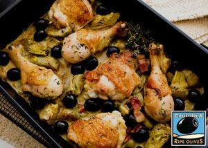 Pan Roasted Artichoke Chicken