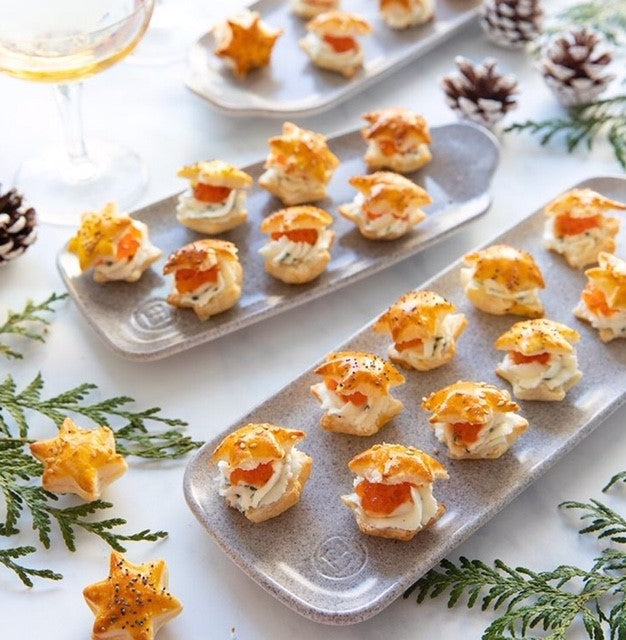 Puff Pastry Bites with Salmon Roe