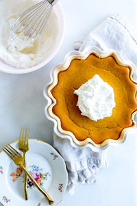 PUMPKIN PIE WITH RUM WHIPPED CREAM-- By Petite Southern Kitchen