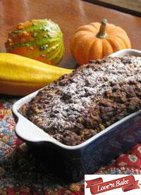 Pumpkin Raisin Apple Cake with Cinnamon Streusel