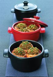 Small Stuffed Mushrooms in Mini-Stewpots