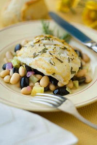 Tuscan Seared Halibut
