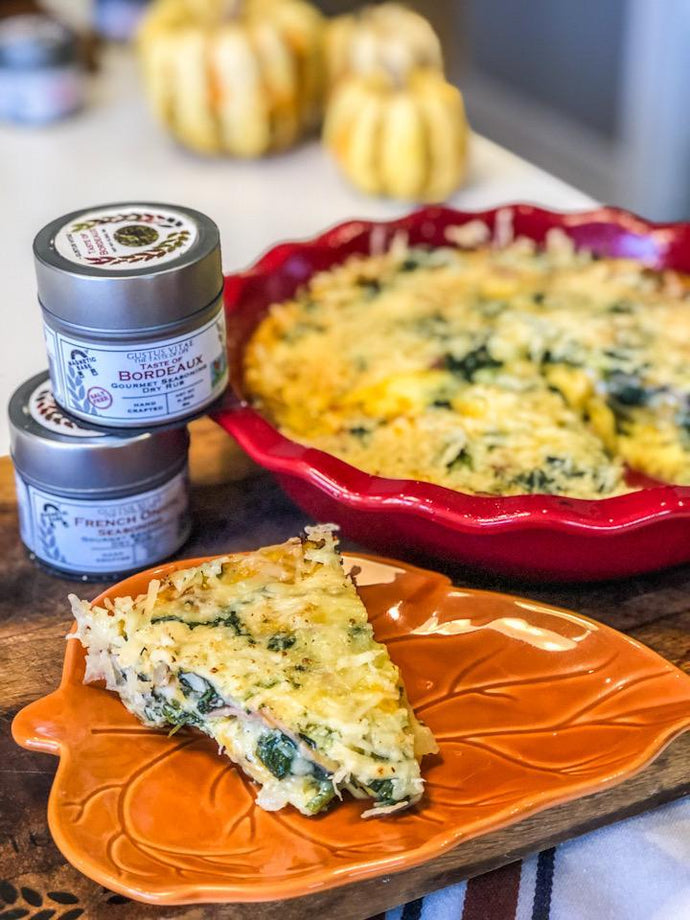 Crustless Spinach & Ham Quiche by Gustus Vitae