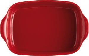 Emile Henry Ultime Rectangular Baking Dish Color: Burgundy; Size: Small Rectangle