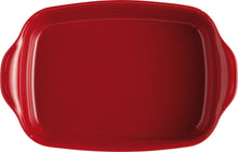 Emile Henry Ultime Rectangular Baking Dish Color: Burgundy; Size: Medium Rectangle