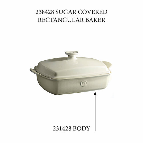 Covered Rectangular Baker - Replacement Body