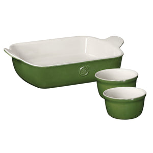Emile Henry USA Rectangular Baker and Ramekin Set Rectangular Baker and Ramekin Set