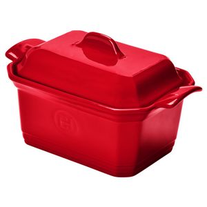 Emile Henry Terrine & Press Size: Large, Color: Burgundy