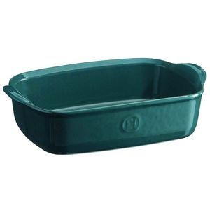 Emile Henry Ultime Rectangular Baking Dish Size: Individual, Color: Blue Flame