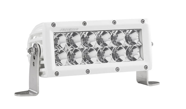 RIGID E-Series PRO LED Light, Flood Optic, 6 Inch, White Housing