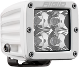 RIGID D-Series PRO LED Light, Spot Optic, Surface Mount, White Housing, Single