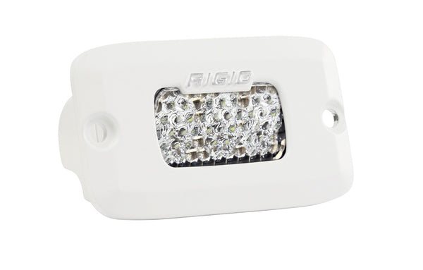 RIGID SR-M Series PRO, Flood Diffused, Flush Mount, White Housing, Single