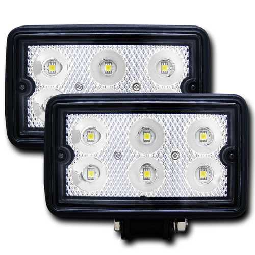 Rugged Vision LED Fog Light; Rectangle; 3 in. x 5 in.; Pair;
