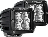 RIGID D-Series PRO LED Light, Spot Optic, Amber, Surface Mount, Pair