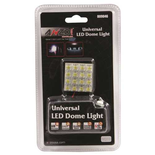 LED Dome Light Bulb; 16 LEDs; Universal; 1.25 in. x 1.25 in.;