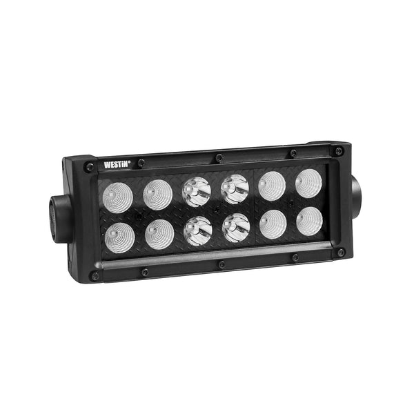 B-FORCE Double Row LED Light Bar; 6 inch Combo w/3W Cree; Black;