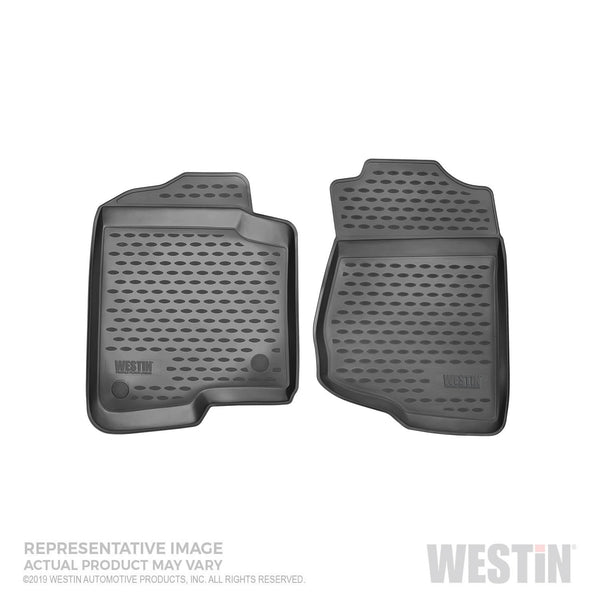 Profile Floor Liners; 1 pc.; Front; Black; Fits 2017-2018 Hyundai Solaris;