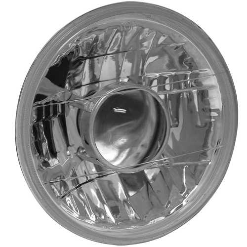 Universal Halogen Headlight Replacement; H4; Round; 7 in.; w/Projector;