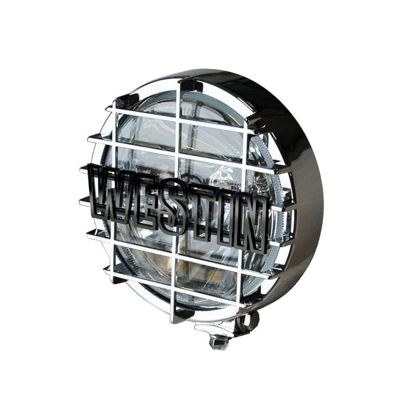 Off-Road Light; 6 in.; w/Grid; Chrome; 1 Light Only;