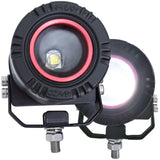 Adjustable Round LED Light with Wire Harness