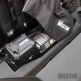 Winch Cover; w/Metal Islet Rings; Westin Logo;