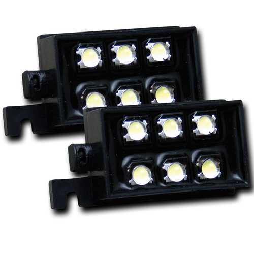 LED Bed Rail Auxiliary Light; Incl. 2 Strands Of Lights; 4 Pod Per Strand;