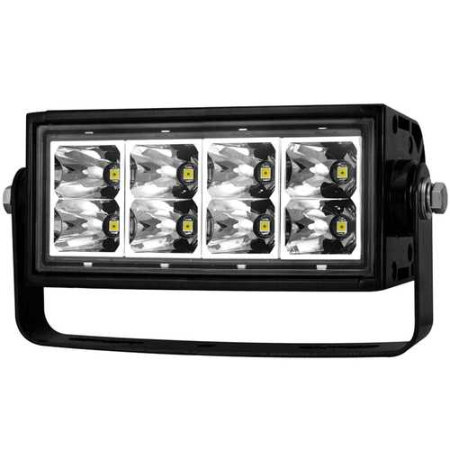 Rugged Vision Off Road LED Light Bar; Rectangle; 6 in.; 8 LEDs; High Output;