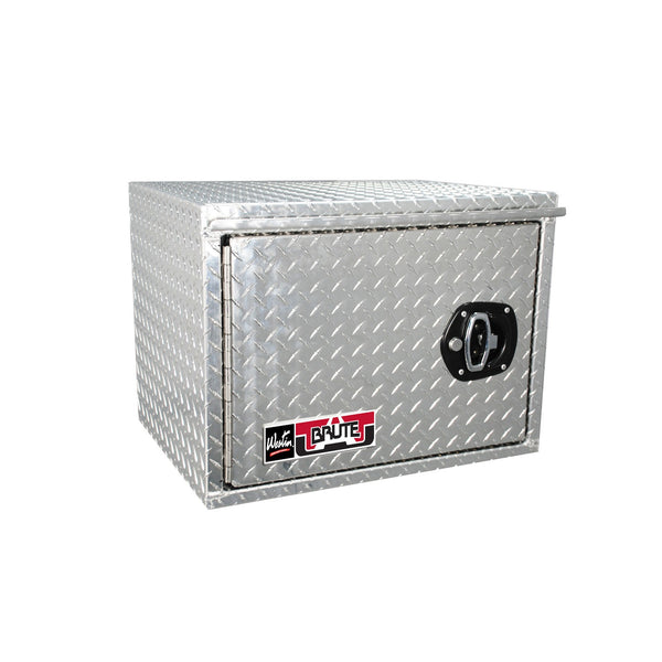 Brute HD Under Body Tool Box; Polished Aluminum; 18 in. x 24 in. Swing Door;