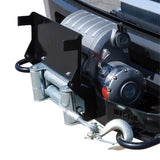 Winch Mount License Plate Relocator; Black; Hardware Included;