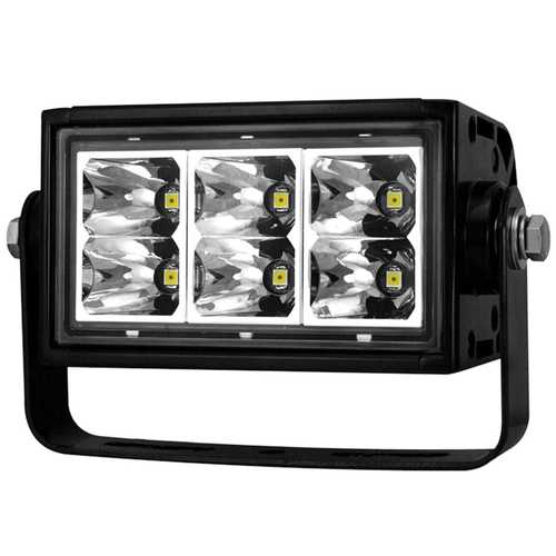 Rugged Vision Off Road LED Light Bar; Rectangle; 4 in.; 6 LEDs; High Output;