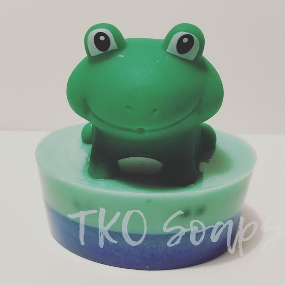 Froggie topped soap bar