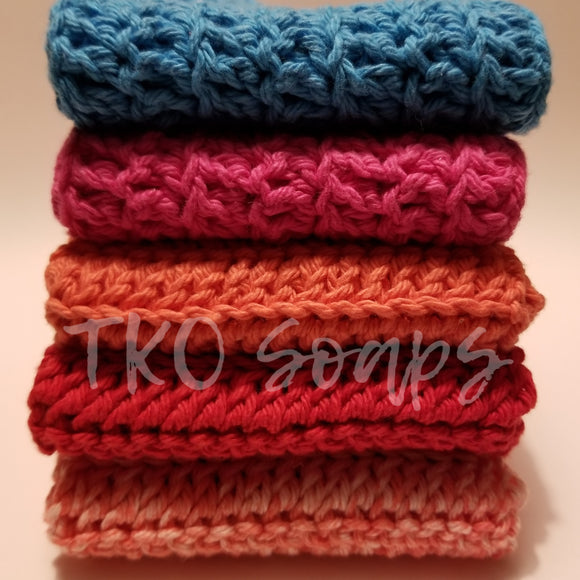 100% Cotton Handmade Washcloth