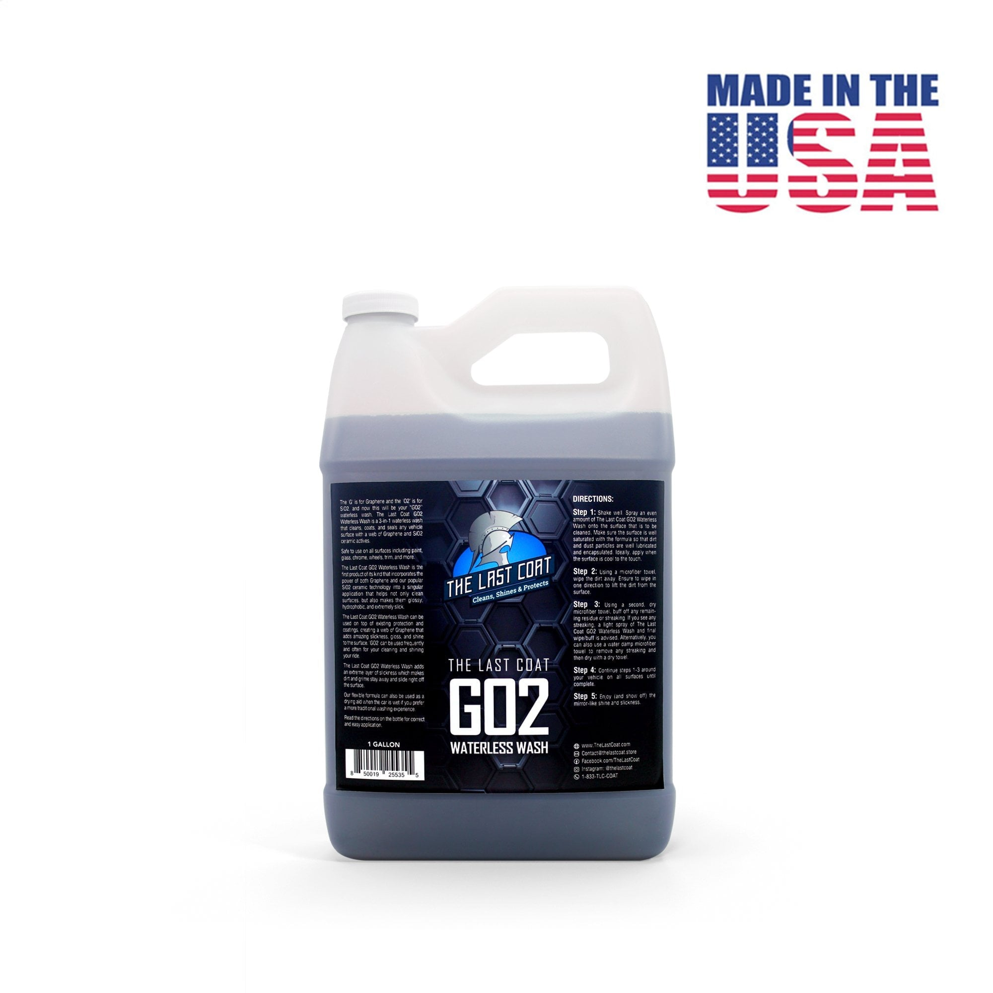 The Last Coat coupon: The Last Coat GO2 Waterless Wash - Graphene + SiO2 Based, 1 - Gallon Size **Best Savings**