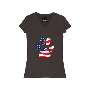 American Paw Women's V-Neck-Brown