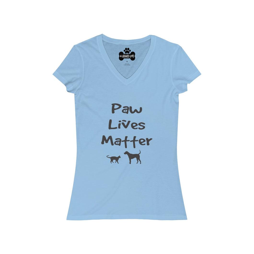 Paw Lives Matter Women's V-Neck Tee
