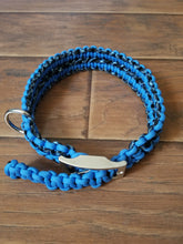 Adjustable Paracord Dog Collar-Blue and Black