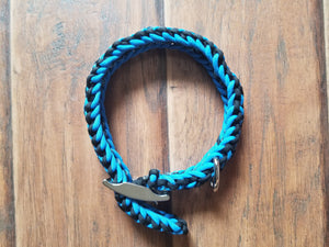 "Adjustable Handmade Paracord Dog Collar ""Jett"""