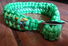 "Adjustable Handmade Paracord Dog Collar ""Going Nuts"""