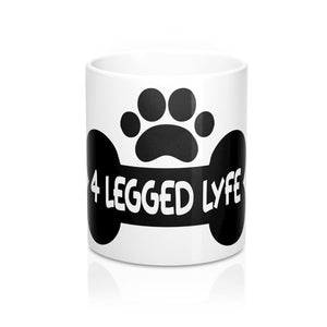 4 Legged Lyfe Logo 11oz Coffee Tea Mug