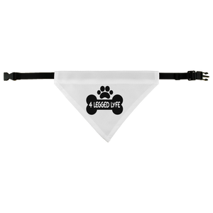 Dog/Cat Bandana Collar 4 Legged Lyfe Logo