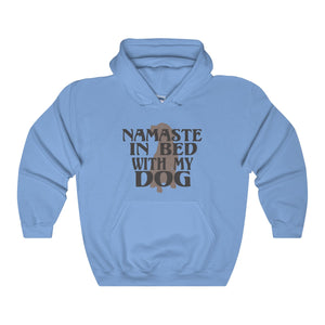 Namaste In Bed With My Dog Unisex Heavy Blend™ Hooded Sweatshirt